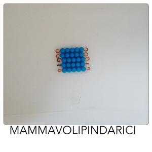 quadrato perle montessori